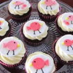Birdie cupcakes for a baby shower