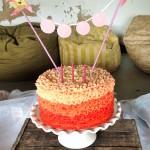 Buttercream ombre frills cake