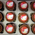 Chocolate Hello Kitty cupcakes