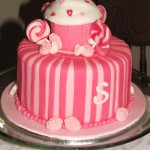 Cupcake birthday cake for a sweet shoppe party