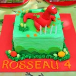 Dinosour buttercream birthday cake