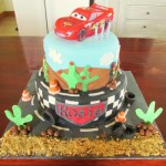 Disney Cars two tiered cake