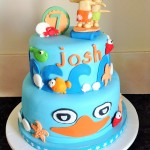 Phineas and Ferb two tiered cake