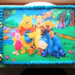 Pooh bear sheet cake