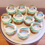 Rainbow sweet cupcakes