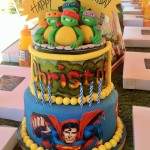 Superhero three tiered cake