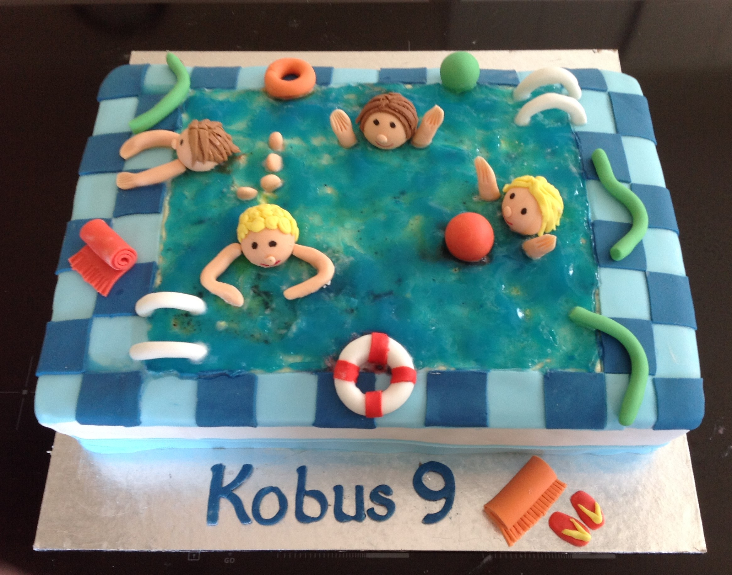 Sweet  Pool Party Cakes