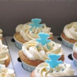 Teddie bear cupcakes for a baby shower