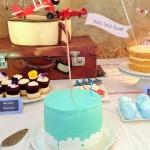 Vintage planes birthday cake