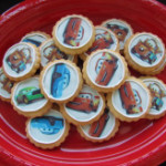 Cars biscuits with edible printed pictures