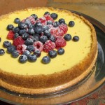 Cheese cake with fresh summer berries