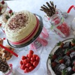 Christmas in July dessert table