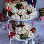 Christmas in July party meringues and cheese cake