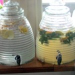 Drinks dispensers with home made cordials - also available to hire
