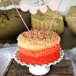 Ombre buttercream frills cake