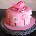 Pink bird cake